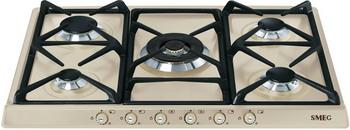 Встраиваемая газовая варочная панель Smeg SR 775 PO варочная панель электрическая smeg p764po кремовый