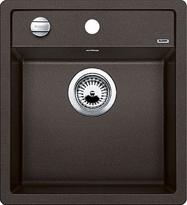 Кухонная мойка BLANCO DALAGO 45-F SILGRANIT кофе с клапаном-автоматом кухонная мойка blanco dalago 5 f silgranit кофе с клапаном автоматом