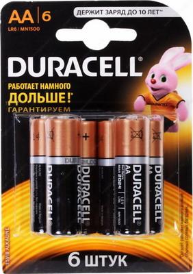 Батарейка Duracell LR6/MN 1500-6BL BASIC AA батарейка aa duracell lr6 mn1500 2 штуки