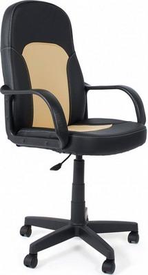 Кресло Tetchair PARMA (кож/зам черный бежевый PU C-36-6/PU C 36-34/) цена и фото