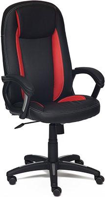 Кресло Tetchair BRINDISI (кож/зам черный красный черный перфорированный PU-36-6/PU-36-161/36-6/36-6/06) цена и фото
