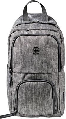 Рюкзак с одним плечевым ремнем Wenger темно-cерый полиэстер 19х12х33 см 8 л 605029 рюкзак городской wenger 26 л серый серебристый 34х16х48см