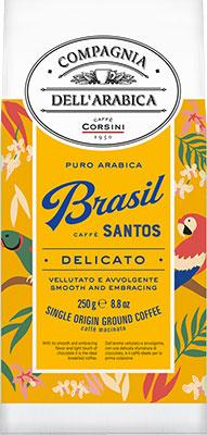 Фото - Кофе молотый Compagnia Dell'Arabica Puro Arabica Brasil Santos (250 г) к/п кофе молотый compagnia dell arabica brasil santos 125 г