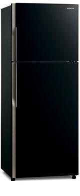Двухкамерный холодильник Hitachi R-VG 472 PU3 GGR графитовое стекло цена и фото