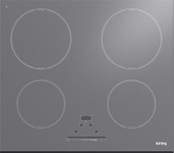 Встраиваемая электрическая варочная панель Korting HI 6450 BGR индукционная варочная поверхность korting hi 6450 bgr