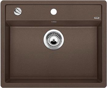 Кухонная мойка BLANCO DALAGO 6-F SILGRANIT кофе с клапаном-автоматом кухонная мойка blanco dalago 5 f silgranit кофе с клапаном автоматом