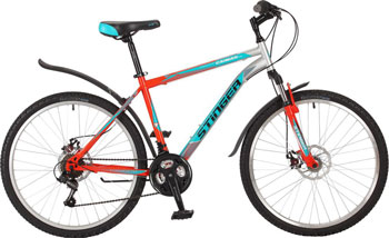 Велосипед Stinger 26'' Caiman D 18'' оранжевый 26 SHD.CAIMD.18 OR7 велосипед stingerreload 26 d 26 скоростей 18 черный