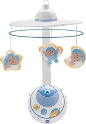 Подвеска мобиль для кровати Chicco Волшебные звезды голубая с д.у. фото