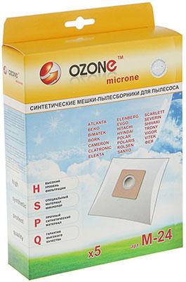 Мешки-пылесборники Ozone M-24 синтетические для пылесоса 5 шт
