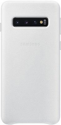 Чехол (клип-кейс) Samsung S 10 (G 973) LeatherCover white EF-VG 973 LWEGRU mooncase view window leather side flip pouch stand shell back чехолдля samsung galaxy s duos s7562 white
