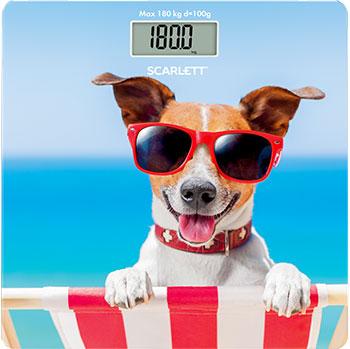 лучшая цена Весы напольные Scarlett SC-BS33E059 собака в кресле