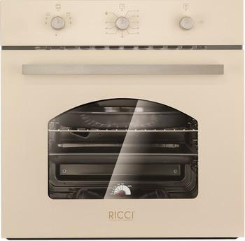 Встраиваемый газовый духовой шкаф Ricci RGO-611 BG встраиваемый газовый духовой шкаф bosch hgn 10 e 060