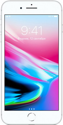 Смартфон Apple iPhone 8 Plus 128 ГБ серебристый (MX252RU/A)