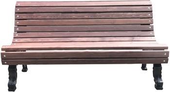 Скамейка Хоббика Романс без подлокотников 1.5м ангарская сосна цвет махагон 11768