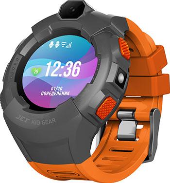 Детские часы с GPS поиском JET KID GEAR оранжевый серый jet kid gear red black
