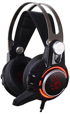 Аудио гарнитура игровая проводная A4Tech Bloody M425 темно-серый гарнитура