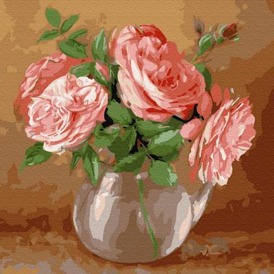 Картина по номерам Сильвертойз БУЗИН. СЛУЧАЙНЫЙ БУКЕТ (21 цвет) на подрамнике KH0735