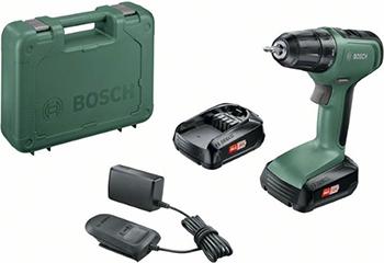 Аккумуляторная дрель-шуруповерт Bosch UniversalDrill 18 (2 акк.) кейс 06039C8005 makita ddf483sye дрель акк