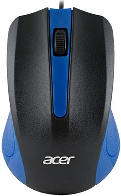 Фото - Мышь ACER OMW011 черный/синий оптическая (1200dpi) USB (3but) (ZL.MCEEE.002)