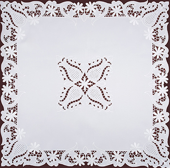 Декоративная салфетка Santalino 85х85 см белый 836-245