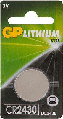 Дисковая литиевая батарейка GP CR2430-8C1 10/100/900