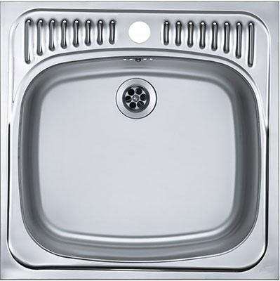 Кухонная мойка Alveus BASIC 130 NAT 60 465X465 1X с сифоном 1011717 (1008825) кухонная мойка alveus basic 130 1008825 нержавеющая сталь