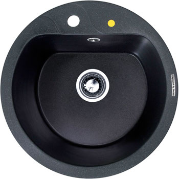 Кухонная мойка Zigmund amp Shtain KREIS 505 F темная скала кухонная мойка zigmund amp shtain kreis 505 f черный базальт