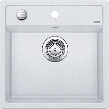 Кухонная мойка BLANCO DALAGO 5 SILGRANIT белый с клапаном-автоматом кухонная мойка blanco dalago 45 f silgranit кофе с клапаном автоматом