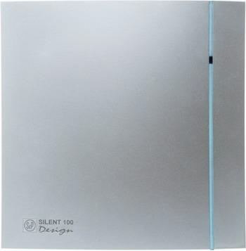 Вытяжной вентилятор Soler & Palau Silent-100 CRZ Design (серебро) 03-0103-122 вытяжной вентилятор soler amp palau silent 100 crz design 4c слоновая кость 03 0103 173