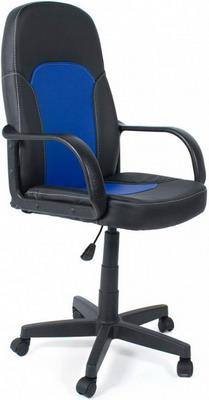Фото - Кресло Tetchair PARMA (кож/зам черный синий PU C-36-6/PU C 36-39) дутики для девочки biki цвет черный a b23 33 c размер 34