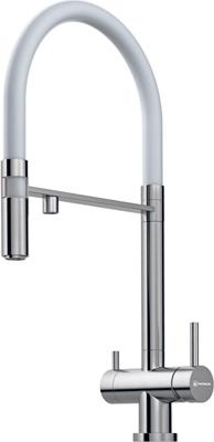 Кухонный смеситель OMOIKIRI Kanto-WH латунь/нерж. сталь (4994298) цена