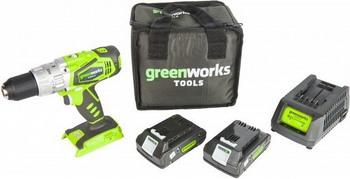 цена на Дрель-шуруповерт Greenworks G 24 CD 3802407