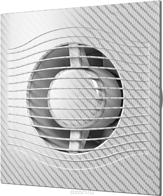 Вентилятор вытяжной с обратным клапаном DiCiTi SLIM 5C white carbon