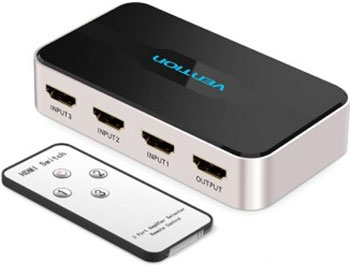 Переключатель (switch) 3x1 Vention HDMI v1.4 AFFH0