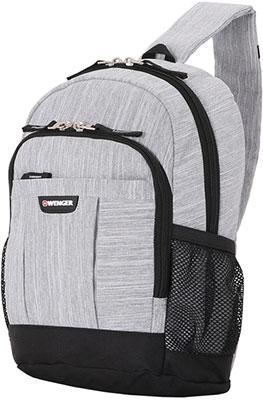 Рюкзак с одним плечевым ремнем Wenger 13'' ткань Grey Heather 24x14x34.3 см 12 л 2610424550 рюкзак городской wenger 26 л серый серебристый 34х16х48см