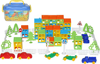 polesie построй свой город 224 элемента Конструктор Polesie 56252_PLS Построй свой город