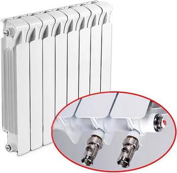 Фото - Водяной радиатор отопления RIFAR Monolit 500 5 сек НП прав (MVR) биметаллический радиатор rifar monolit ventil 500 5 сек прав кол во секций 5 мощность вт 980 подключение правое