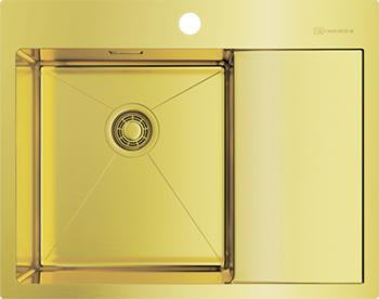 Кухонная мойка Omoikiri AKISAME 65-LG-L нерж.сталь/светлое золото (4973083) врезная кухонная мойка 65 см omoikiri akisame 65 lg r светлое золото