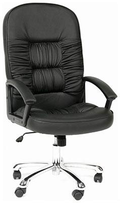 Офисное кресло Chairman 418 черная кожа