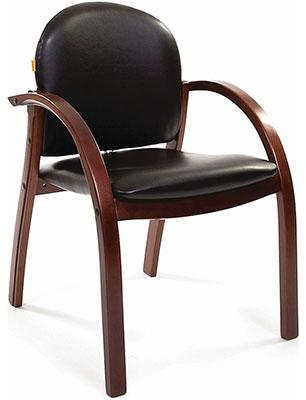 цена на Офисное кресло Chairman 659 PU 3816-12 черный глянцевый/тем. орех