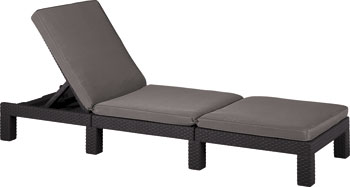Шезлонг Allibert Daytona коричневый комплект мебели allibert corona set with cushion box капучино 17198017
