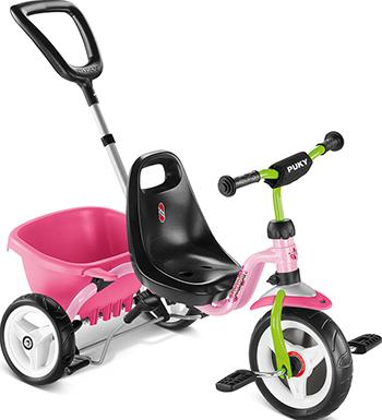Велосипед Puky CAT 1S 2215 трехколесный pink/kiwi розовый/киви