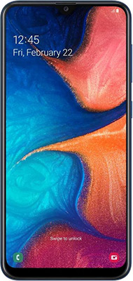 Смартфон Samsung Galaxy A20 32GB SM-A205F (2019) черный смартфон samsung galaxy s7 sm g930f 32gb black