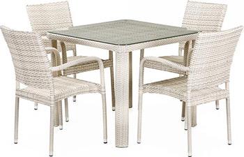 цена на Комплект мебели Афина T 341 A/Y 376 A-W 85-90 x 90 4Pcs Latte