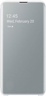 Чехол (флип-кейс) Samsung S 10 e (G 970) ClearView white EF-ZG 970 CWEGRU mooncase view window leather side flip pouch stand shell back чехолдля samsung galaxy s duos s7562 white