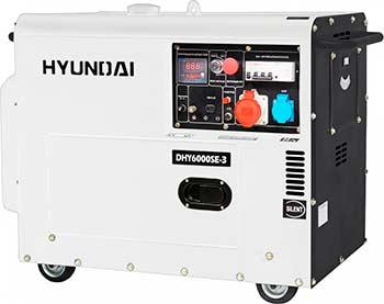 Электрический генератор и электростанция Hyundai DHY 6000SE-3 hyundai matrix расход топлива