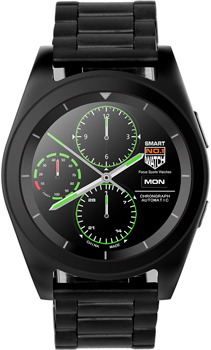 Умные часы NO.1 G6 черные ремешок сталь (NO.1G6BLS) фото