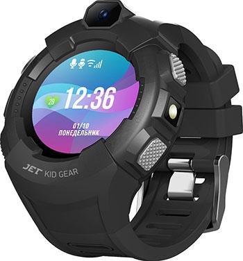 Детские часы с GPS поиском JET KID GEAR черный серый jet kid gear red black