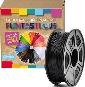 PLA-пластик в катушке Funtastique PLA-1KG-BK 1.75 мм 1 кг (Черный)