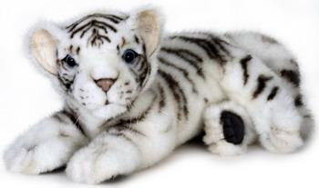 Мягкая игрушка Hansa Creation 5337 Белый тигренок лежащий 26 см